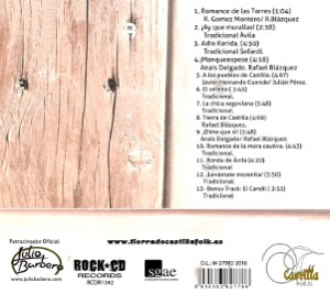 "Contraporada CD ""Desde Castilla"""